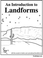 landforms  waterforms worksheets  worksheet