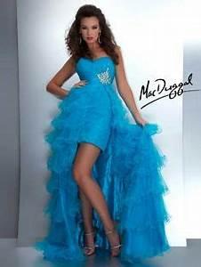 Neon Orange Strapless High Low Prom Dress