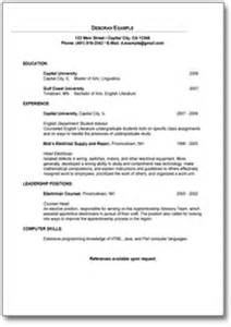 simple resume format for freshers documents sle resume for graduate student template direct to download