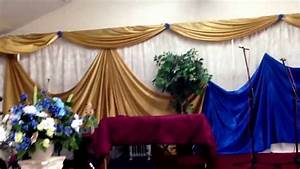 Church decor full wall draping