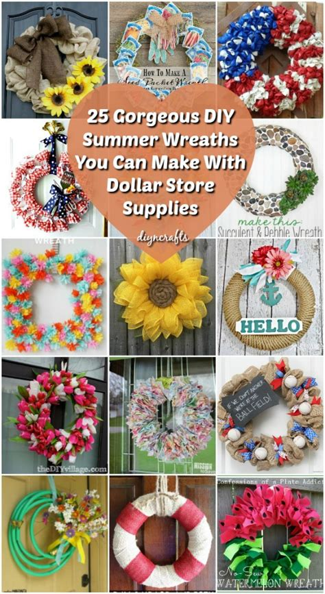 gorgeous diy summer wreaths     dollar