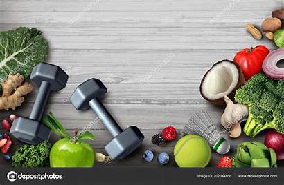 Healthy Fitness Background Lifestyle Active Exercise Diet