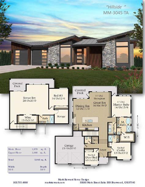 Hillside House Plan Basement house plans House plans