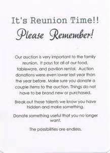 memorial announcement wording 49th annual palmer family reunion invitation back