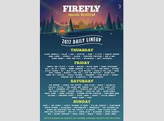 Firefly Music Festival 2017 daily lineups & singleday tickets