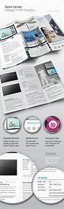 tri fold digital signage indesign brochure graphicriver With tri fold brochure template indesign cs6