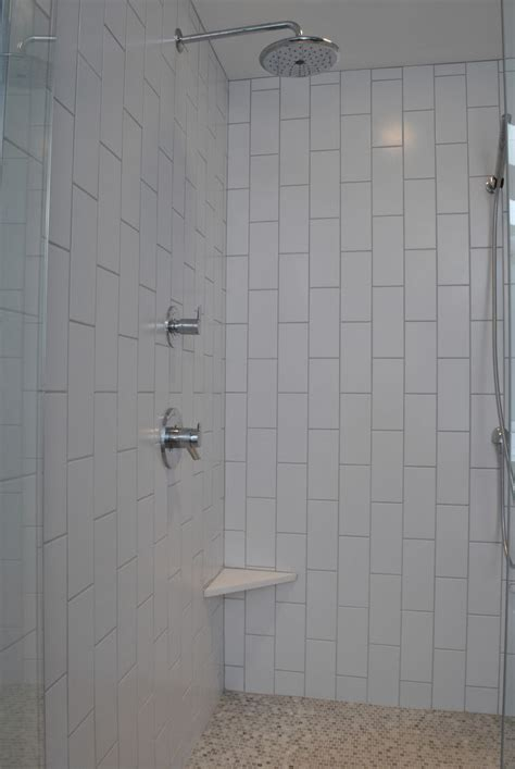 vertical subway tile bathrooms remodel bathroom