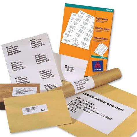 avery a4 210x297mm copier labels white 1 per sheet