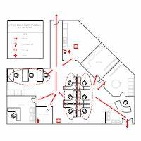 Evacuation plan templates for Fire evacuation plan template for office