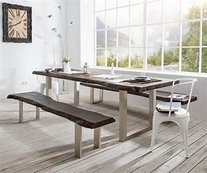 Baumtisch Live Edge : baumtisch live edge 200x100 akazie tabak platte 5 5cm gestell breit premium furniture league ~ Indierocktalk.com Haus und Dekorationen