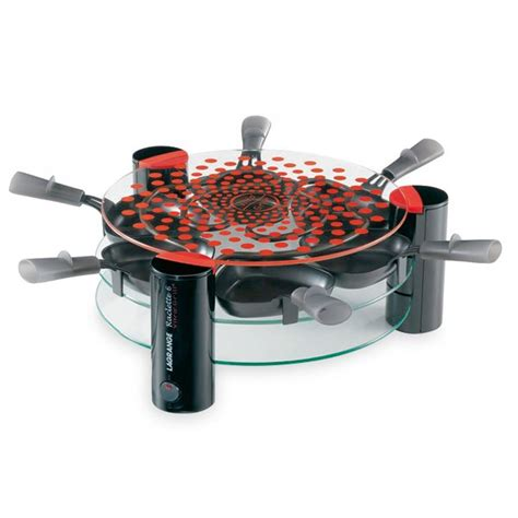 appareil cuisine conviviale appareil à raclette grill transparent 6 personnes 009631