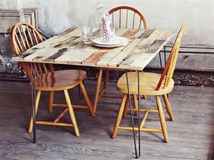 Table Pied Epingle : table en palette 44 id es d couvrir photos ~ Edinachiropracticcenter.com Idées de Décoration