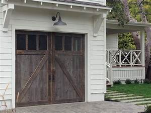 porch roofing and exterior lighting ideas wood garage With barn looking garage doors