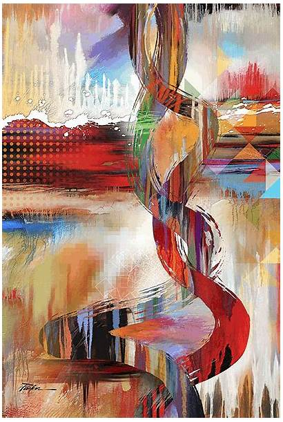 Abstract Motion Painting Parker Artist Tim Nude