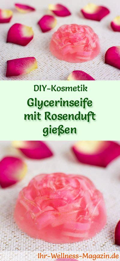 glycerinseife mit rosenduft giessen seifen rezept anleitung