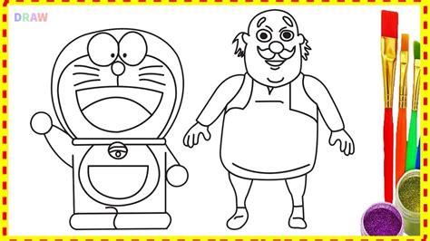 draw doraemon  motu patlu characters cartoon  hindi