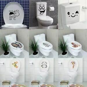 Wandbilder Für Badezimmer : 3d wc sitz toilette klodeckel sticker wandbilder aufkleber diy badezimmer deko ebay ~ Frokenaadalensverden.com Haus und Dekorationen