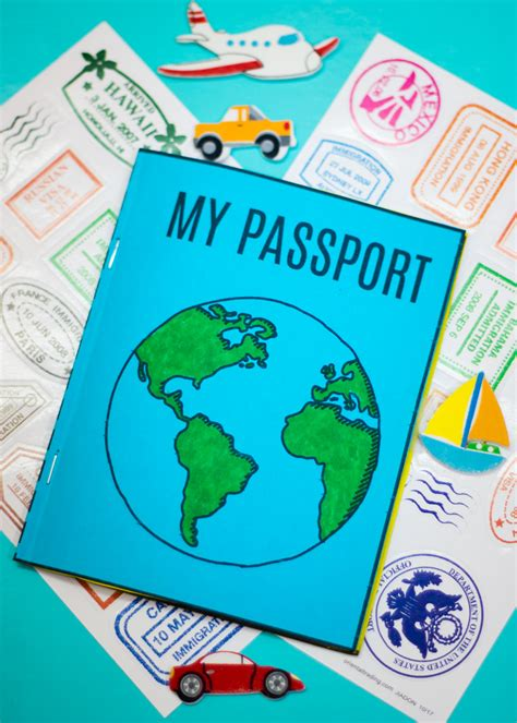 diy mini passport book  printable   takes