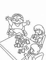 Coloring Cards Playing Beat Grandmother Tarot Deck Grandchildren Sympathy Printable Getcolorings Getdrawings Colorings sketch template