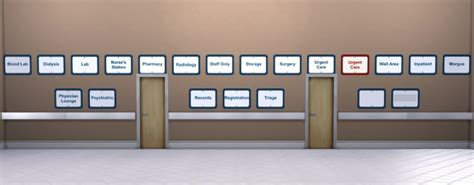 basic hospital signs  eastwind  mod  sims sims