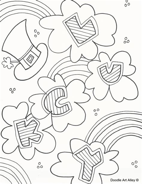 Select from 35653 printable coloring pages of cartoons, animals, nature, bible and many more. St. Patricks Day Coloring Pages - DOODLE ART ALLEY