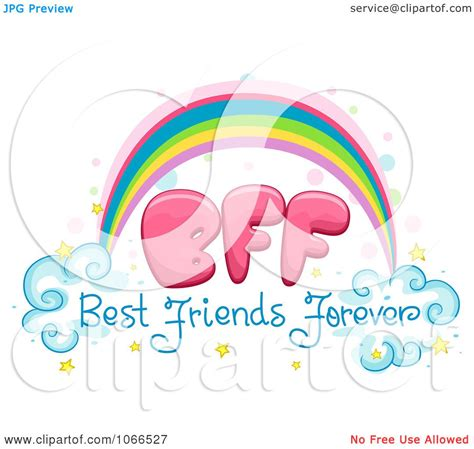best free clipart clipart best friends forever rainbow royalty free vector