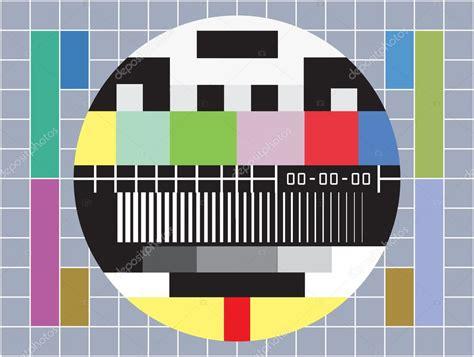tv  test screen   signal stock vector