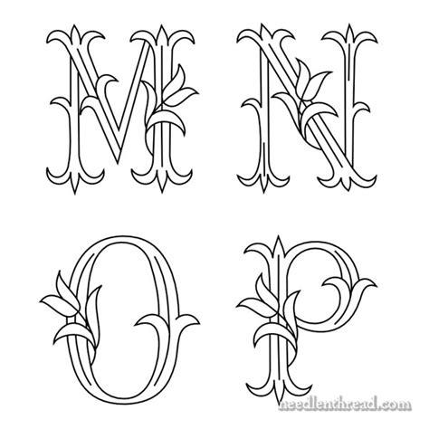 tulip monograms  hand embroidery  p needlenthreadcom