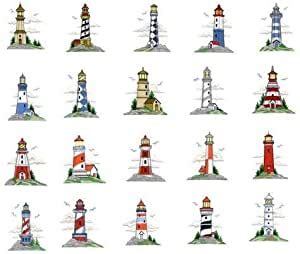 amazoncom embroidery machine designs cd lighthouse