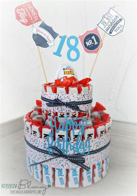 gute geburtstagsgeschenke zum 18 zum 18 geburtstag f 252 r einen kinderschokoladen liebhaber gab es eine entsprechende torte die