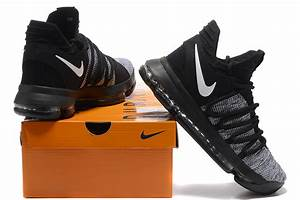 2017 Cheap Nike KD 10 Black/Grey White Basketball Shoes ...