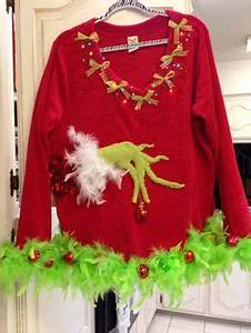 DIY The Grinch Holiday Cheermeister Sweater