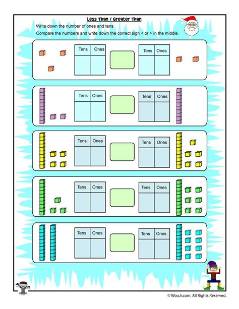 However you choose to use it, our lovely tens and ones worksheets are sure to be a fantastic way to. Hundreds, Tens and Ones Comparison - Greater Than & Less Than | Tens, ones, Christmas math ...