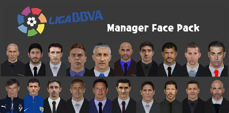 liga bbva managers face pack