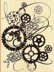 steampunk gears and cogs drawing - Google Search   Gear ...