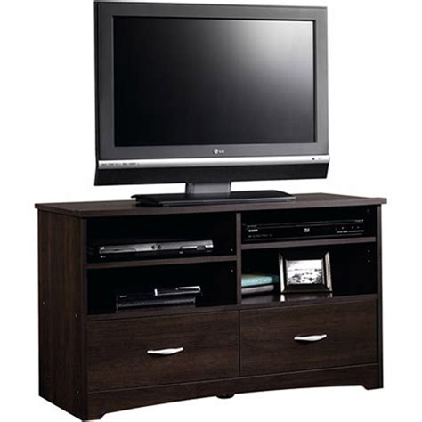 walmart furniture tv table sauder beginnings cinnamon cherry tv stand for tvs up to