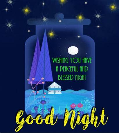 Night Blessed Peaceful Goodnight Dreams Blessings Sweet