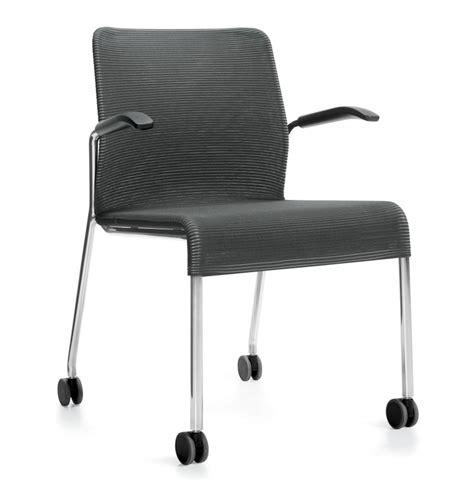 global lite mesh four legged chair w cantilever arms