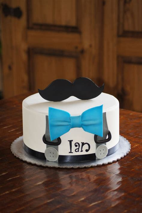 bow tie cake suspenders and blue bow tie baby shower cake with mustache