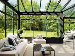 idee deco mur veranda With superior idee deco terrasse jardin 9 decoration bureau ancien