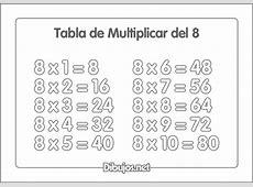 Dibujos de las tablas de multiplicar para imprimir y