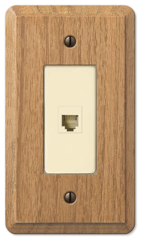 oak outlet covers contemporary oak wood phone jack wall plate light finish contemporary switch plates and
