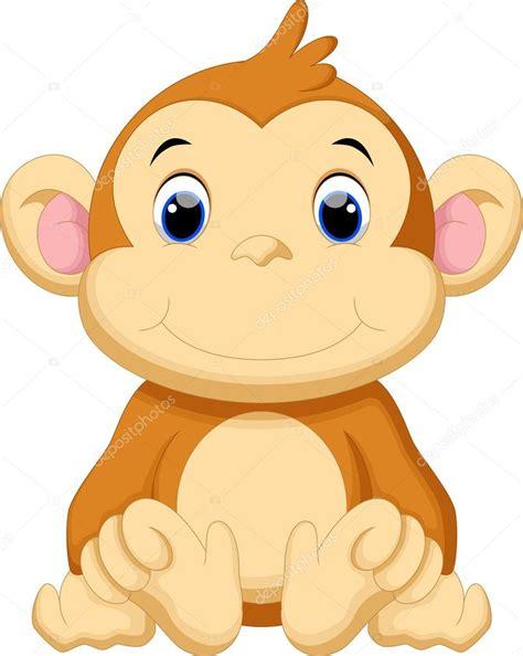 Paket Titi fondo mono dibujos animados mono lindo vector de