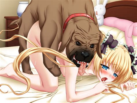Rule 34 Barefoot Bed Blonde Hair Blue Eyes Blush Canine