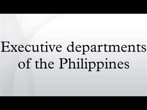 Cabinet Agencies Of The Philippines by Cabinet Of The Philippines You2repeat
