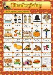 worksheets thanksgiving vocabulary