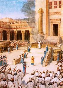 Solomon's dedication of the Temple. | Israel and Early ...
