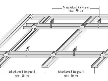 decke abhängen metallunterkonstruktion knauf d 228 mmung und beplankung