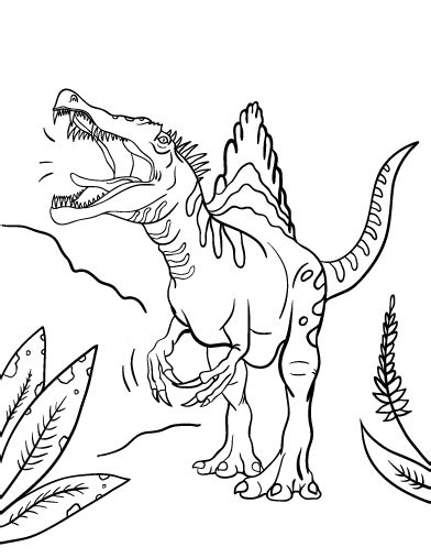 Kleurplaat Spinosaurus by Spinosaurus Coloring Pages Getcoloringpages