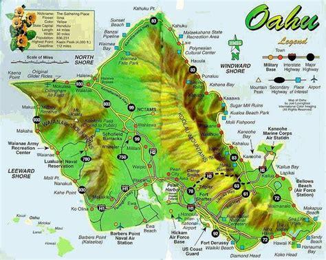 printable map  oahu  island  oahu hawaii
